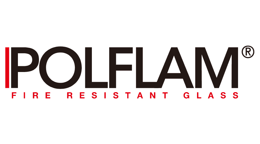 Polflam Fire Resistant Glass Logo Vector