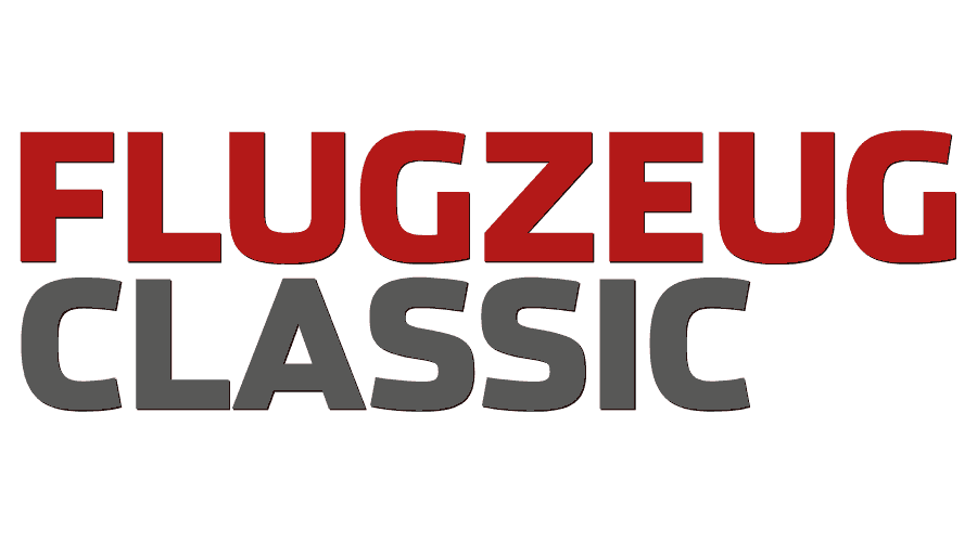 Flugzeug Classic Magazin Logo Vector