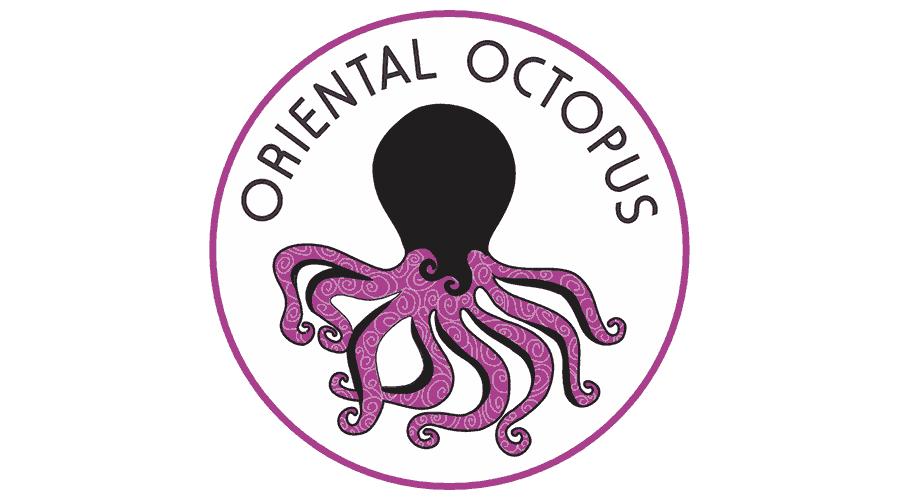 Oriental Octopus Logo Vector