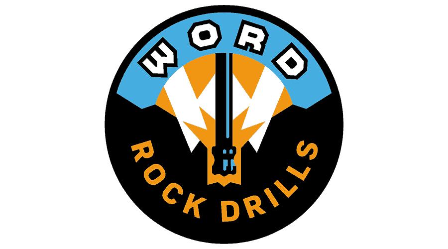 WORD Rock Drills Logo Vector