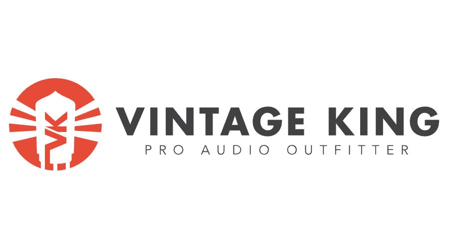 Vintage King Audio Logo Vector
